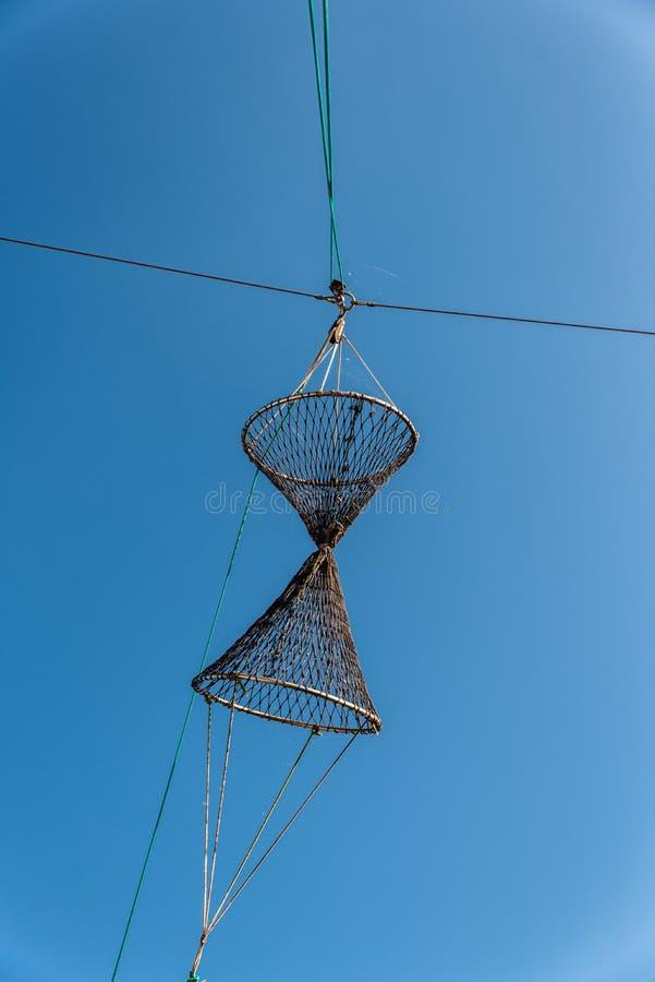 Stara sieć rybacka zdjęcia stock
