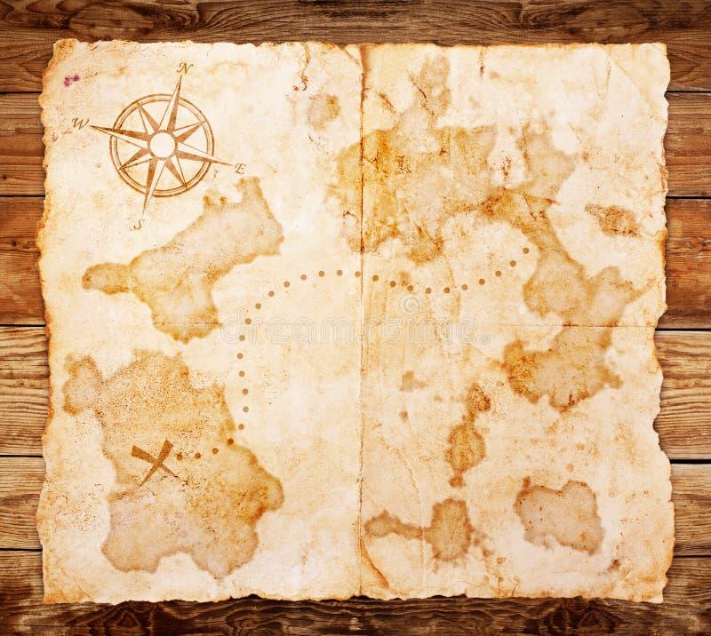 Stara skarb mapa zdjęcie stock