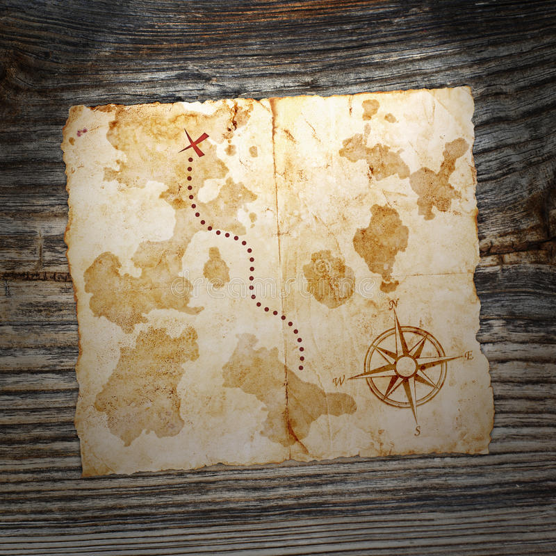 Download Stara skarb mapa zdjęcie stock. Obraz złożonej z żegluje - 28961302