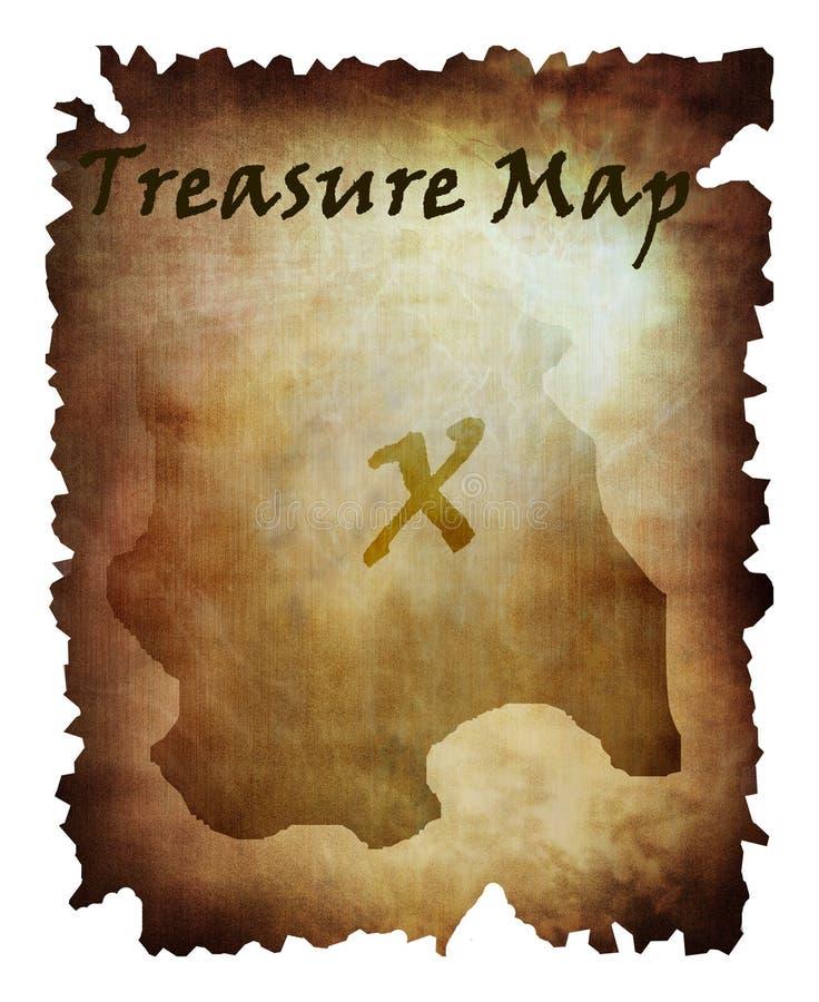 Stara skarb mapa ilustracji