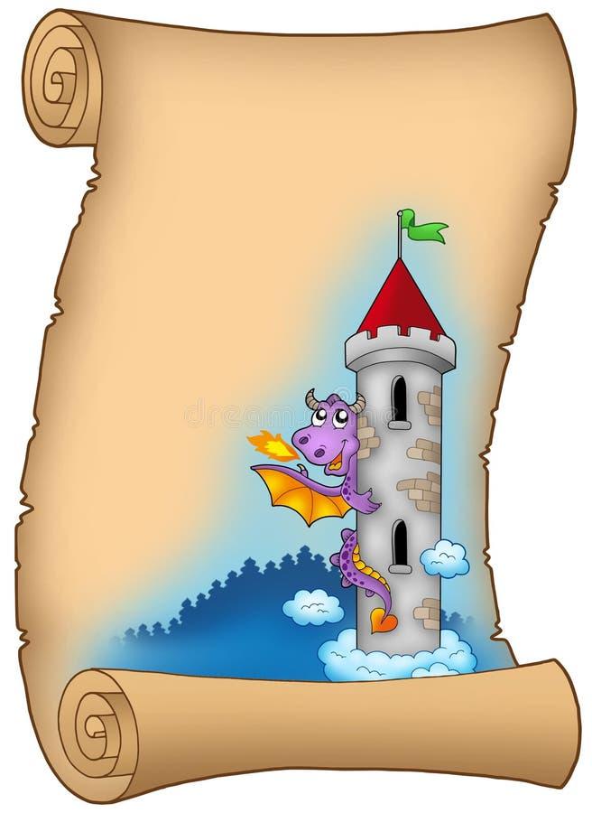 stara smok ślimacznica ilustracja wektor