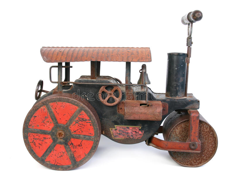 Stara steamroller zabawka obraz royalty free