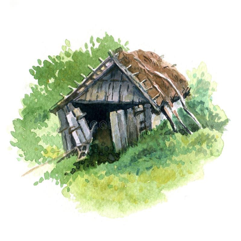 stara stodoła ilustracji