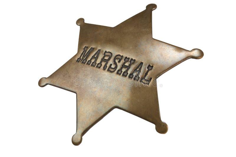 Stara stylu marszałka odznaka zdjęcia stock