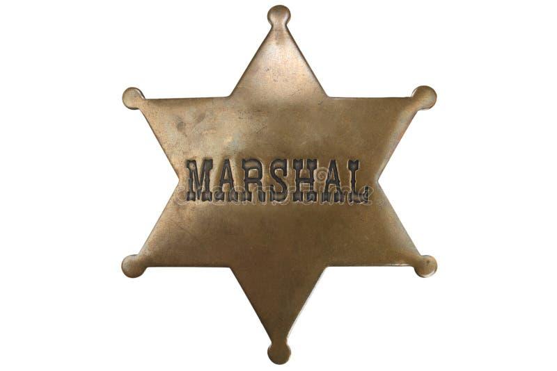 Stara stylu marszałka odznaka obrazy stock