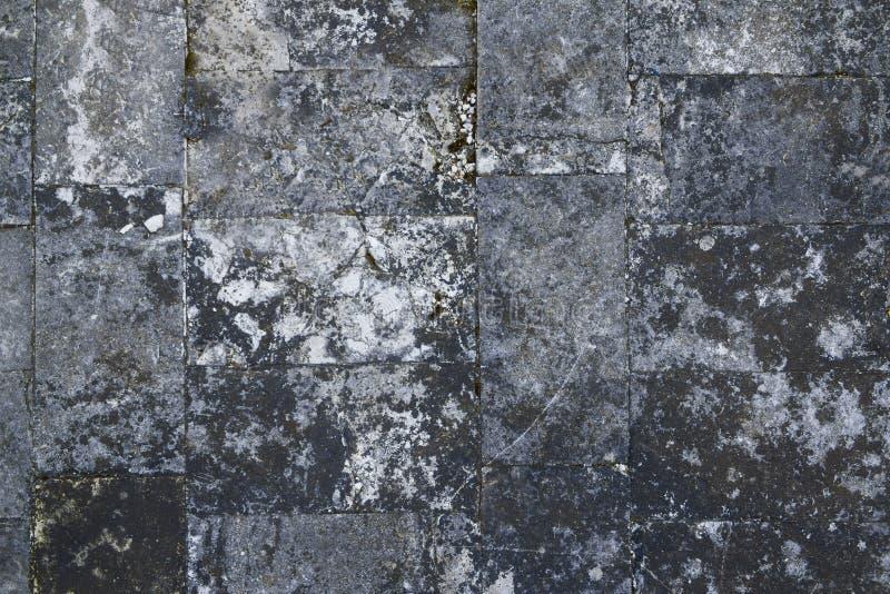 Stara szara kamienna ściana, bezszwowa tło tekstura zdjęcie stock