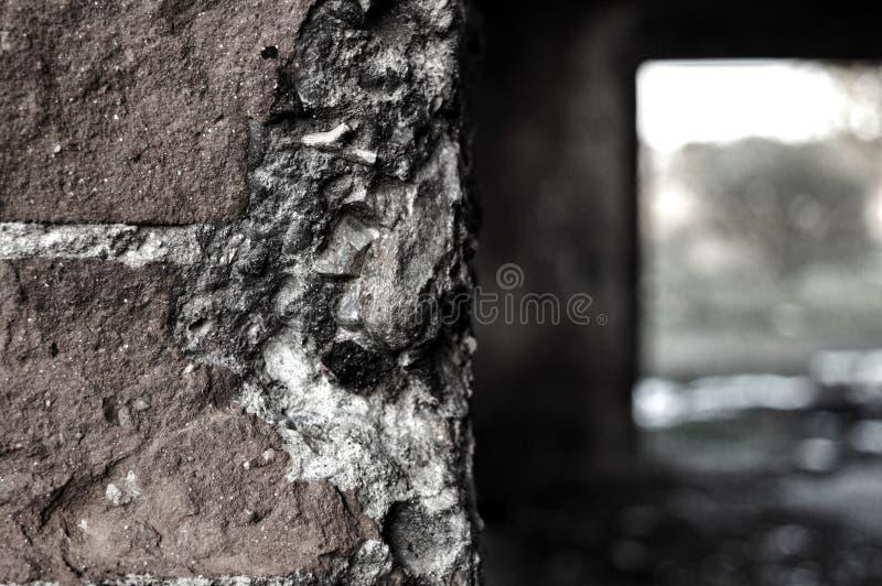 Stara szarości ściana zdjęcie stock