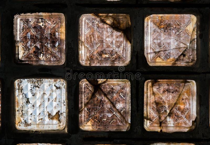 Stara Szklanej cegły architektura zdjęcia stock