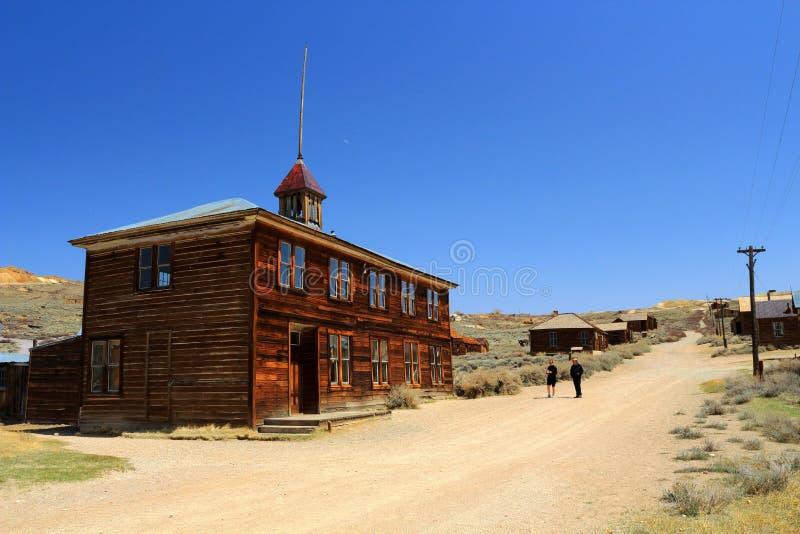 Stara Szkoła dom w Bodie stanu Historycznym miejscu, Kalifornia obrazy stock