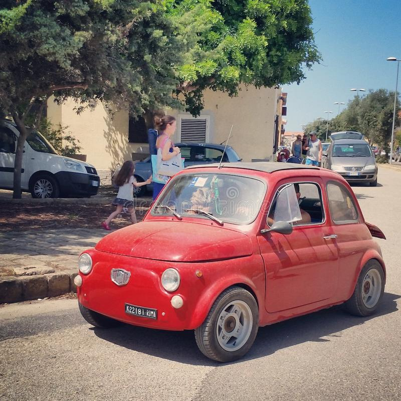 Stara szkoła mały samochód fotografia royalty free
