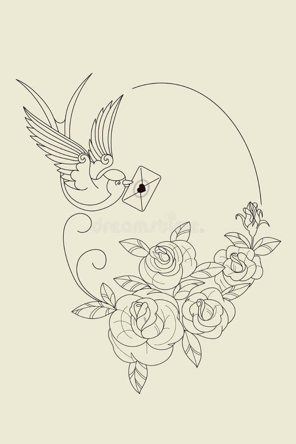 Download Stara Szkoła Tatuażu Symbole Ilustracja Wektor - Ilustracja złożonej z tło, ilustracje: 57653948