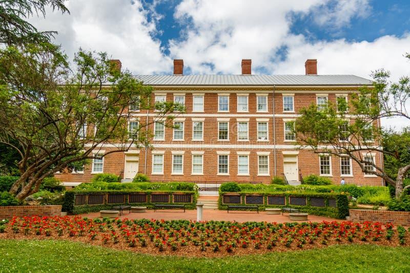 Stara szkoła wyższa przy uniwersytetem Gruzja obrazy royalty free