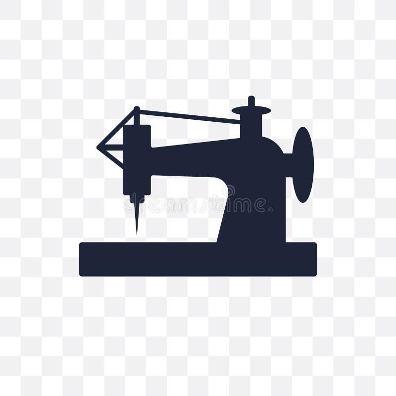 Stara szwalnej maszyny przejrzysta ikona Stary szwalnej maszyny symbolu d royalty ilustracja