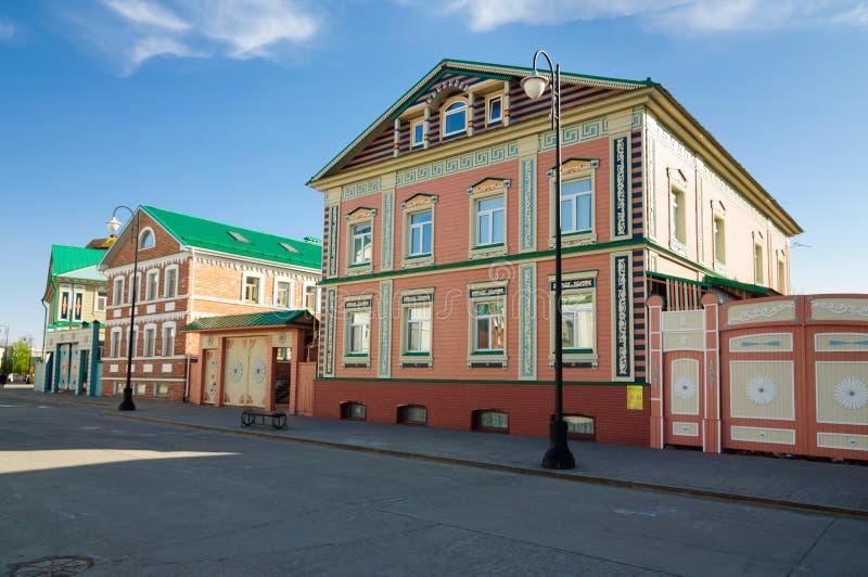 Stara Tatar ugoda jest dziejowym punktem zwrotnym w centrum Kazan zdjęcia royalty free