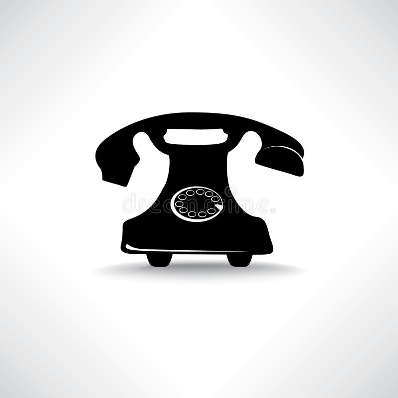 Stara telefon ikona Retro telefonu symbol ilustracja wektor