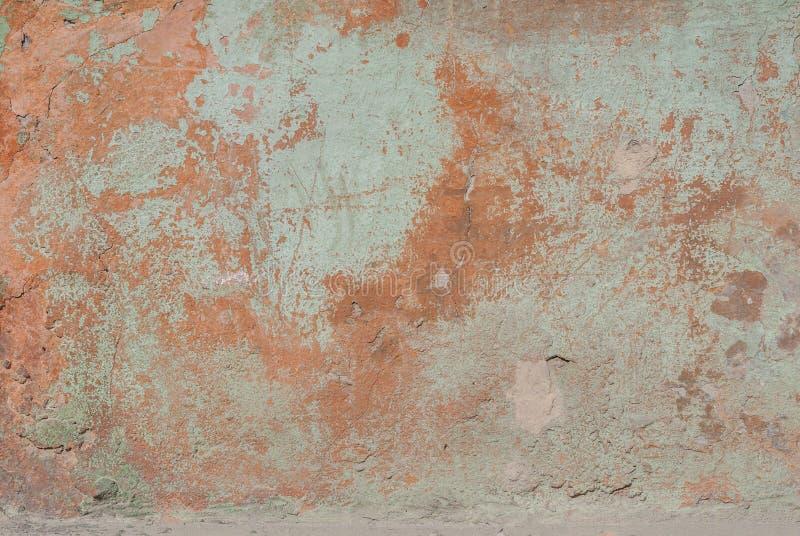 Stara tynk ściana, odłupana farba, krajobrazu styl, tekstury tło fotografia stock
