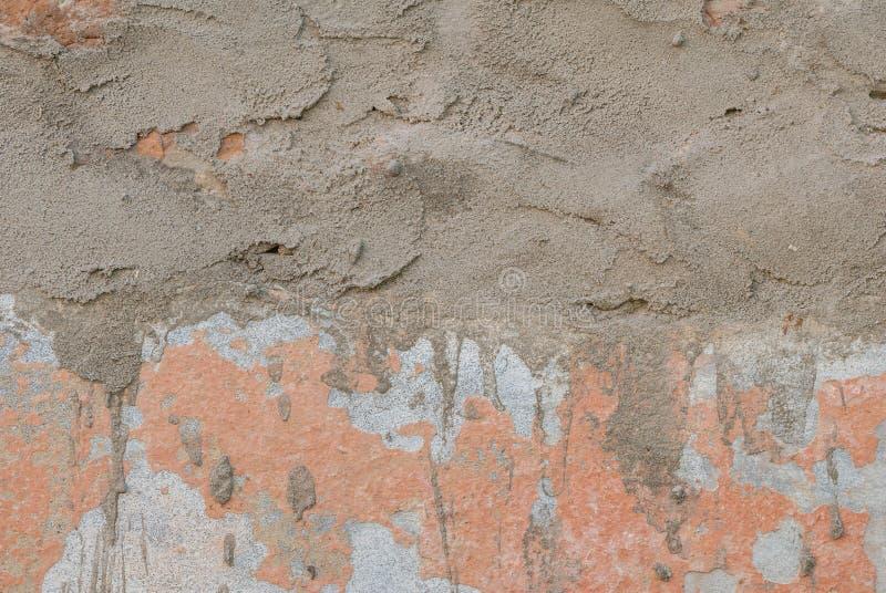 Stara tynk ściana, odłupana farba, tekstura, tło zdjęcie stock