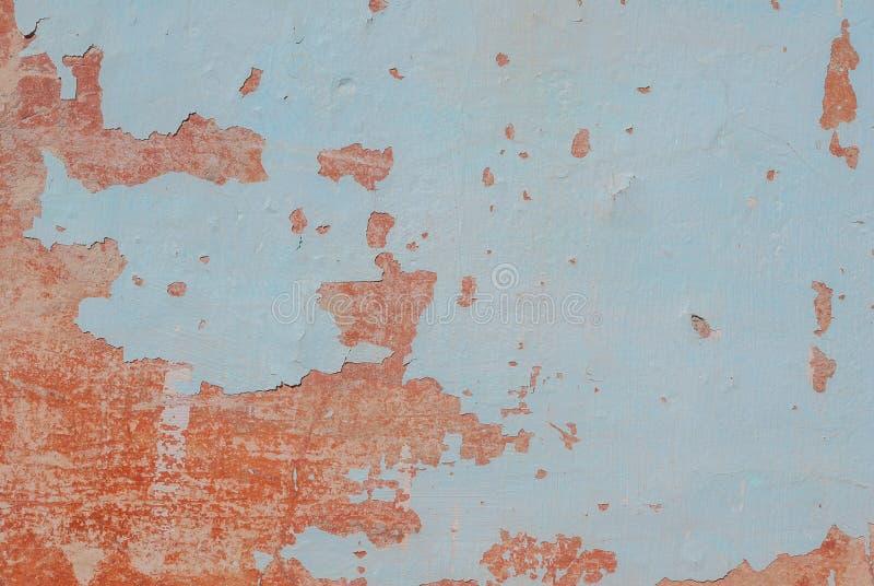 Stara tynk ściana, odłupana farba, tekstury tło obraz stock