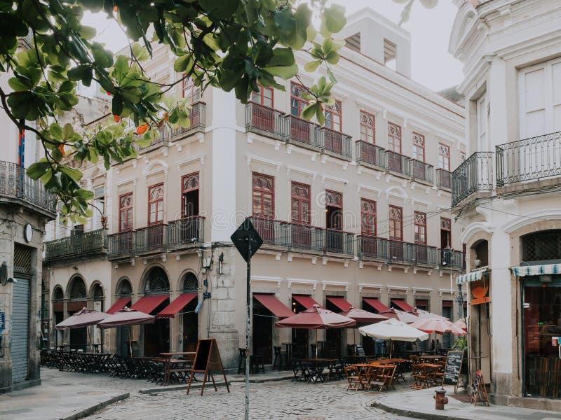Stara ulica Centro w Rio De Janeiro obrazy stock