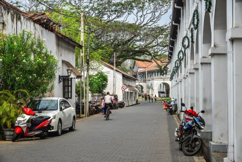 Stara ulica Galle, Sri Lanka zdjęcie royalty free