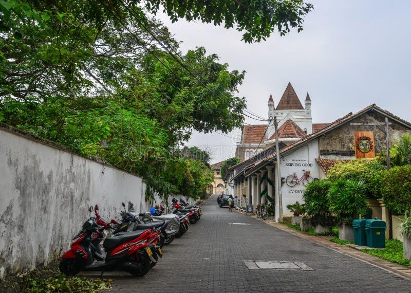 Stara ulica Galle, Sri Lanka fotografia stock