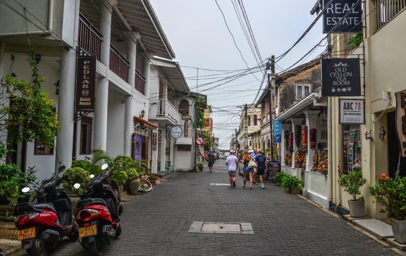 Stara ulica Galle, Sri Lanka fotografia royalty free