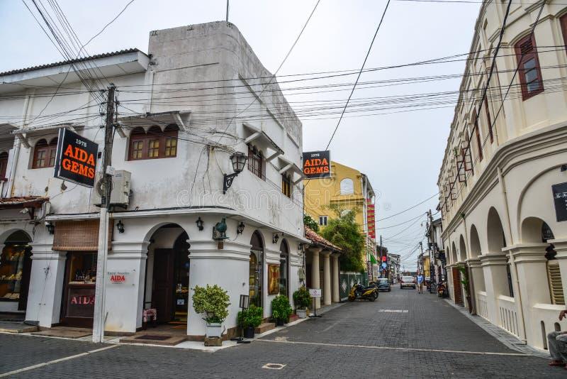 Stara ulica Galle, Sri Lanka obrazy stock