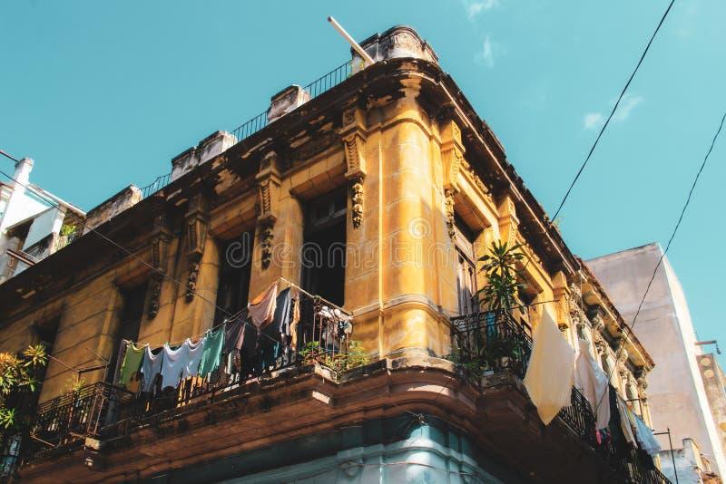 Stara ulica Hawański w Kuba, Caribbeans fotografia stock
