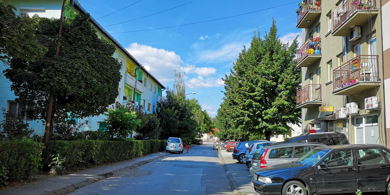Stara ulica w Cacak Serbia zdjęcia royalty free