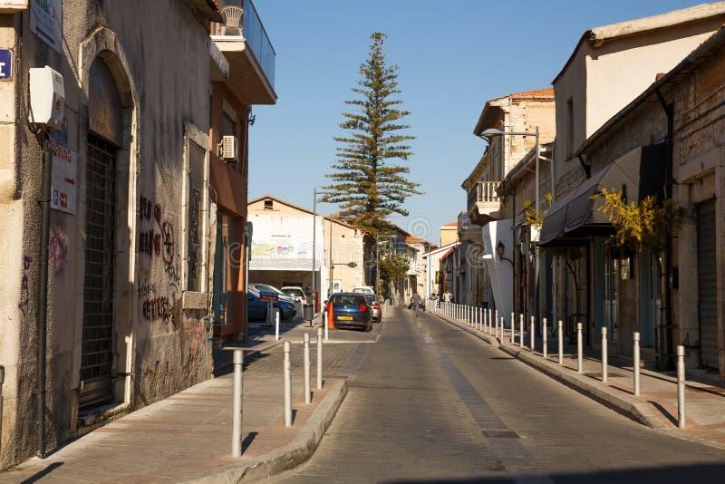 Stara ulica w Limassol zdjęcia royalty free