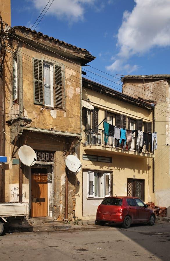 Stara ulica w Nikozja Cypr zdjęcia royalty free