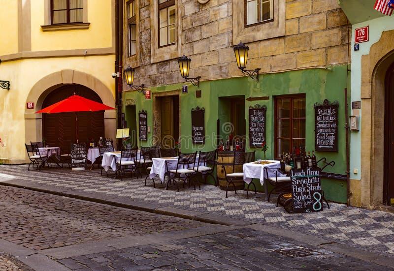 Stara ulica w Starym miasteczku Praga fotografia royalty free