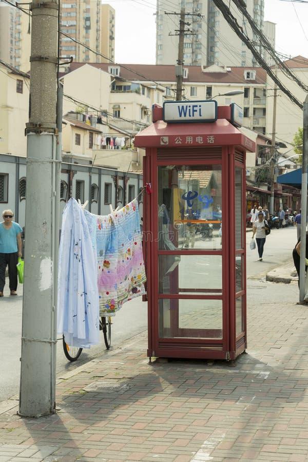 Stara ulica w Szanghaj, Chiny obrazy stock