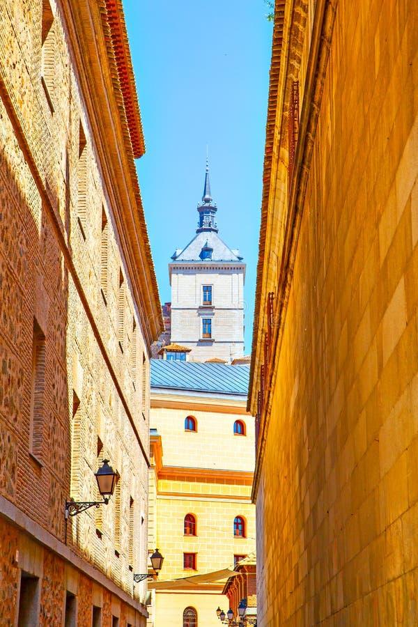 Stara ulica w Toledo obraz stock