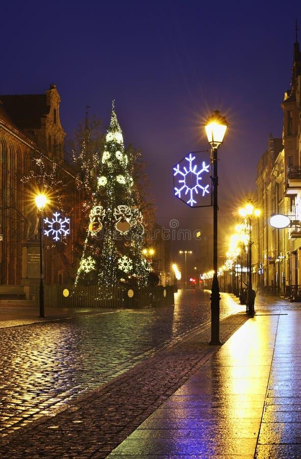 Stara ulica w Toruńskim Polska obrazy royalty free