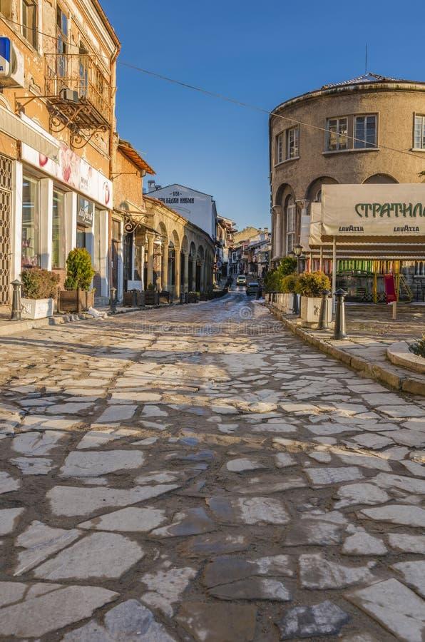 Stara ulica w Veliko Tarnovo obrazy stock