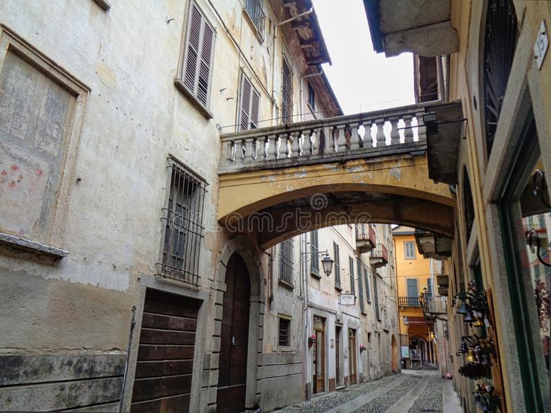 stara ulica w Venice w Italy fotografia stock