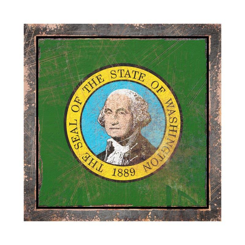 Stara Waszyngton flaga ilustracja wektor