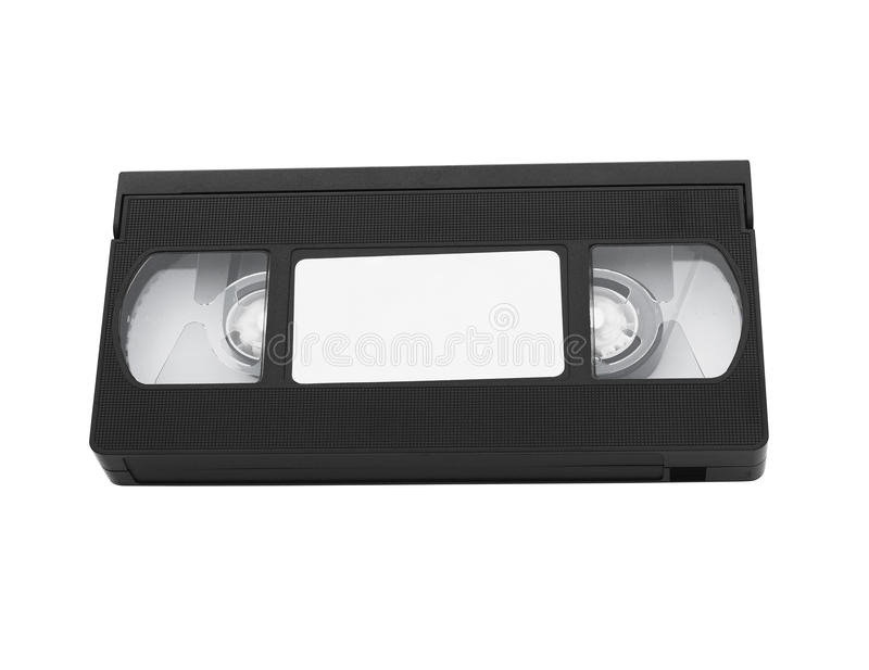 Stara wideo kasety taśma z pustą etykietką obrazy royalty free