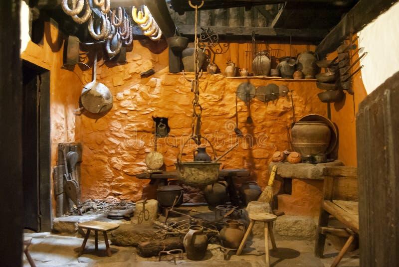 Stara wieśniaka domu kuchnia fotografia royalty free