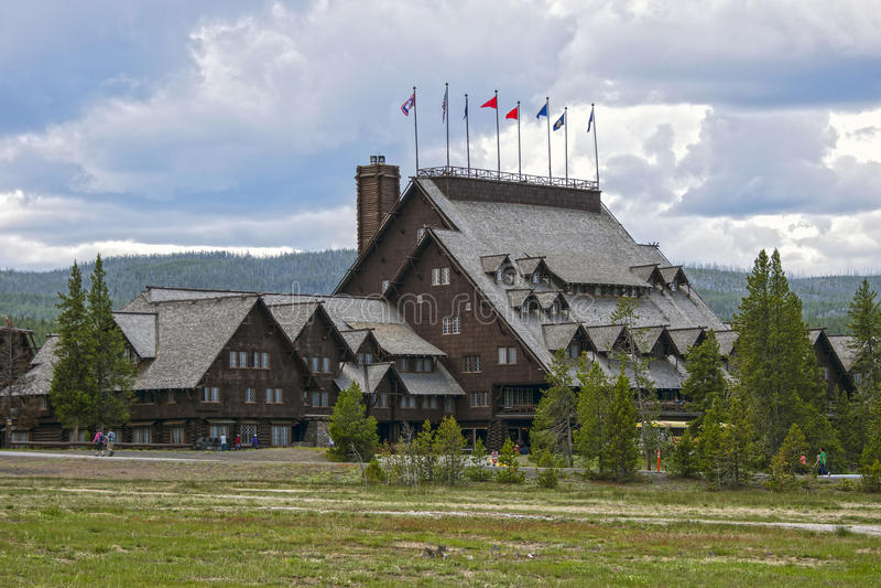 Stara Wierna austeria, Yellowstone park narodowy, Wyoming, usa obrazy royalty free