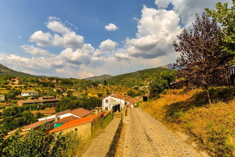 Stara wioska Hervas, Hiszpania - obrazy stock