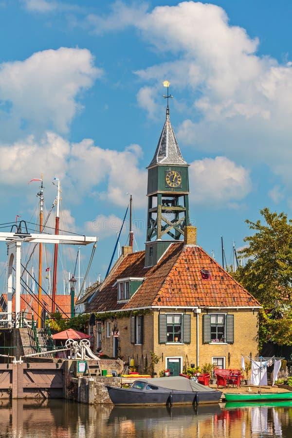 Stara wioska Hindeloopen holandie zdjęcia royalty free
