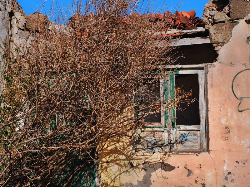 Stara, zaniechana canarian chałupa, choruje fotografia royalty free