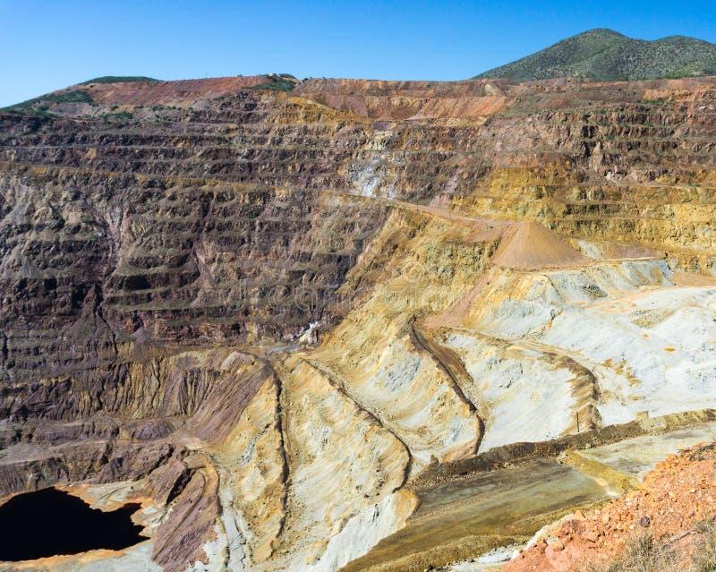 Stara zaniechana kopalnia miedzi obrazy stock