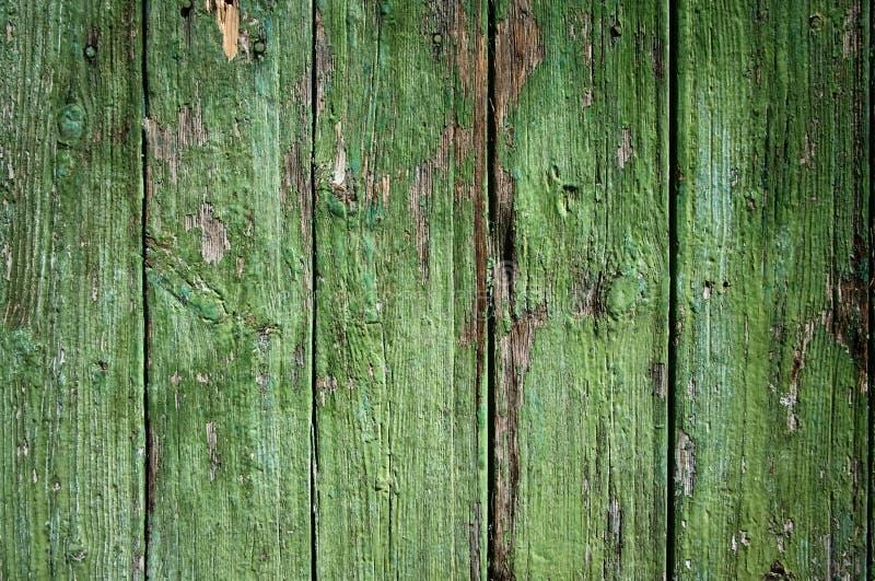 Stara zielona drewniana deski drewna tekstura obraz royalty free