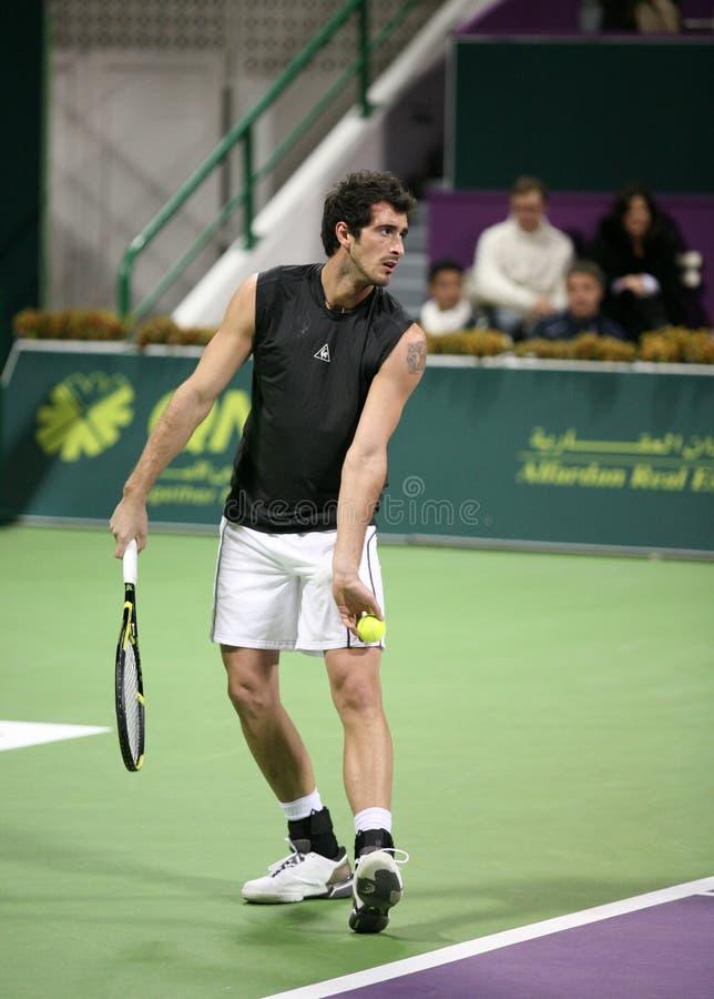 Starace jouant chez le Qatar ouvert photo stock