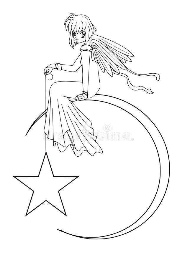 Download Starangel διανυσματική απεικόνιση. εικονογραφία από φεγγάρι - 13188986