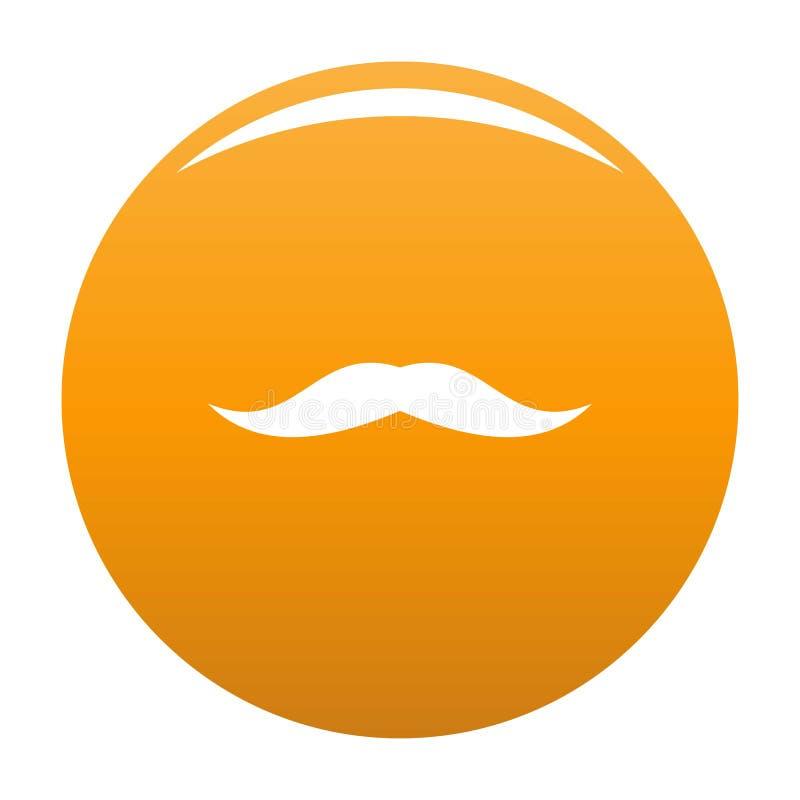 Staranna wąsy ikony pomarańcze ilustracja wektor