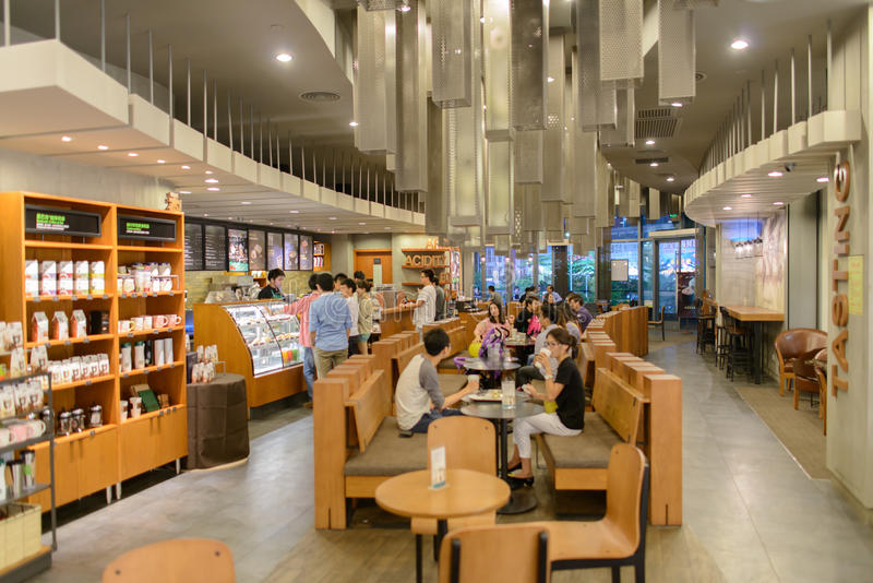 Starbucks Cafe interior editorial stock image. Image of asia - 46227119